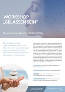 "Workshop ""Gelassen sein"""